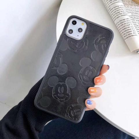 Чехол Mickey Mouse Leather для iPhone 11 Pro Max - Black