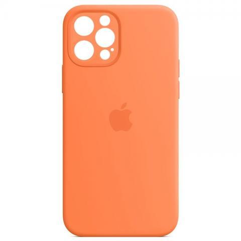 Силиконовый чехол с защитой для камеры для iPhone с защитой для камеры для iPhone 12/12 Pro - Kumquat