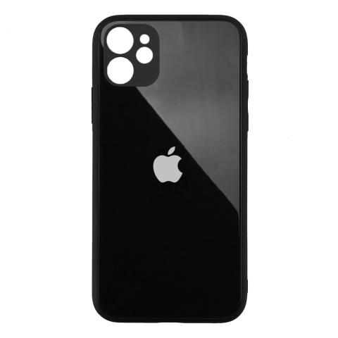 Стеклянный чехол с защитой для камеры для iPhone 11 Black