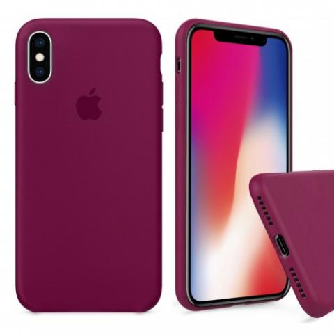 Чехол Full Silicone case для iPhone X/XS - Beaujolais