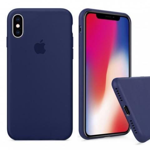 Чехол Full Silicone case для iPhone X/XS - Midnight Blue