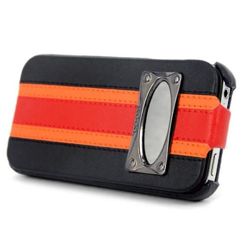 Чехол HOCO Marques Fashion Leather Case для iPhone 4/4S - черный