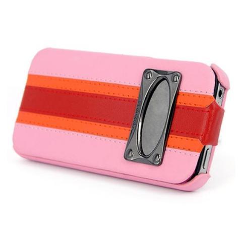 Чехол HOCO Marques Fashion Leather Case для iPhone 4/4S - розовый