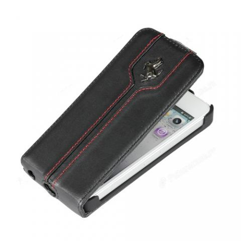 Чехол-флип Ferrari Montecarlo Collection Flip Case для iPhone 5c - black