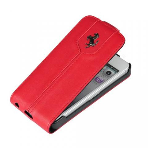 Чехол-флип Ferrari Montecarlo Collection Flip Case для iPhone 5c - red
