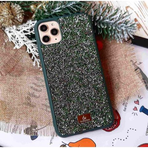 Чехол Bling World Pearl Diamonds (TPU) iPhone 11 Pro Emerald (Изумруд)