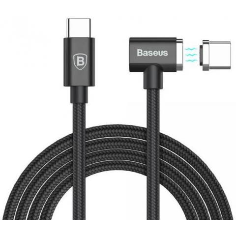 Baseus Magnet Type-C cable (Side insert) For Type-C 1.5M Black (CATBL-01)