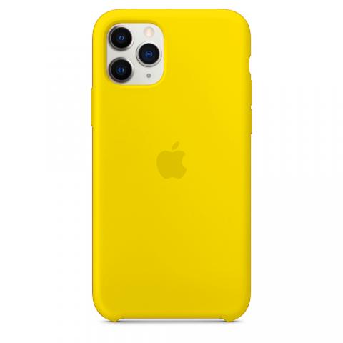 Apple Silicone Case для iPhone 11 Pro Max - Yellow (Hi-Copy)