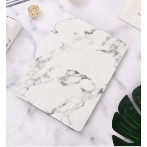 """Чехол Logfer с держателем для стилуса для iPad 7 10.2"""" (2019/2020) - мрамор белый"""