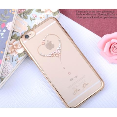 Чехол Kingxbar Sky Swarovski Bling Crystal Series для iPhone 6/6S Heart Gold