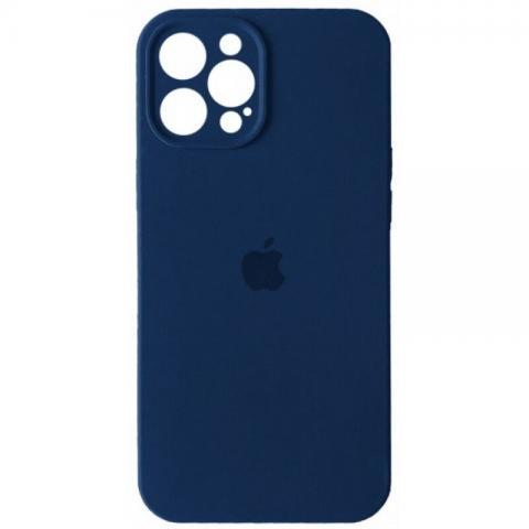 Силиконовый чехол с защитой для камеры для iPhone 12 Pro Max - Deep Navy
