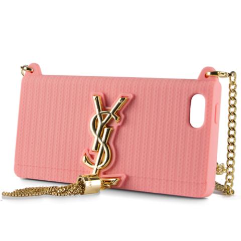 SAINT LAURENT Clutch YSL Case для iPhone 5/5S - нежно-розовый