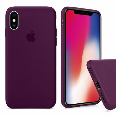 Чехол Full Silicone case для iPhone X/XS - Marsala