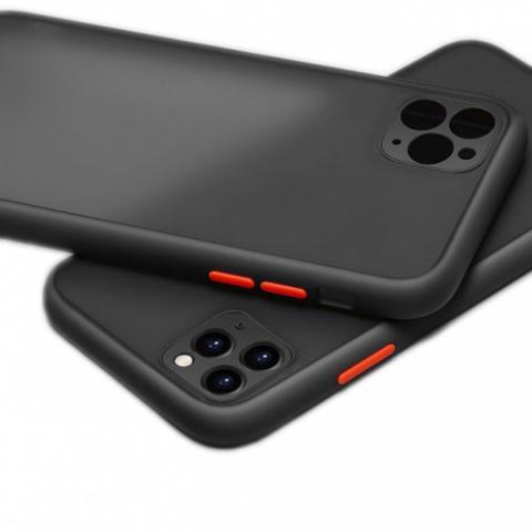 Противоударный чехол HULK с защитой для камеры для iPhone 11 Pro Max - Black/Red