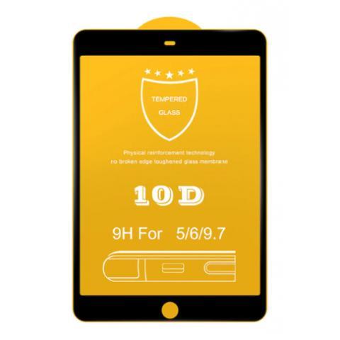 Защитное стекло 10D для iPad Air/Air 2 - Black