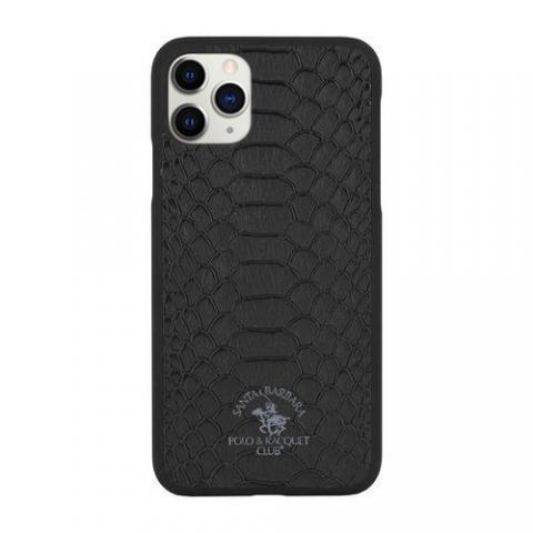 Кожаный чехол Polo Knight черный для iPhone 11 Pro