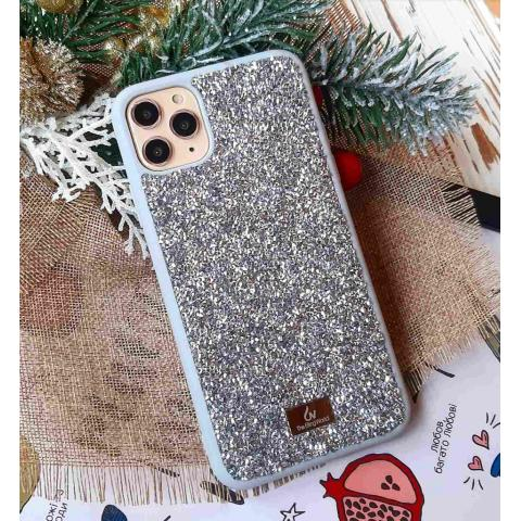 Чехол Bling World Pearl Diamonds (TPU) iPhone 11 Pro Silver