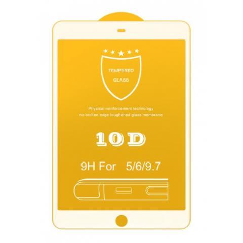 Защитное стекло 10D для iPad Air/Air 2 - White