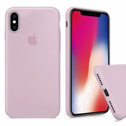 Чехол Full Silicone case для iPhone X/XS - Pink Sand