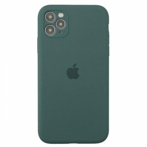 Чехол Silicone Case Full Camera для iPnone 11 Pro - Pine Green