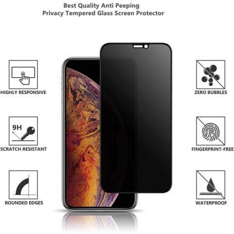 Защитное стекло анти-шпион Anti-Spy для iPhone XR - глянец