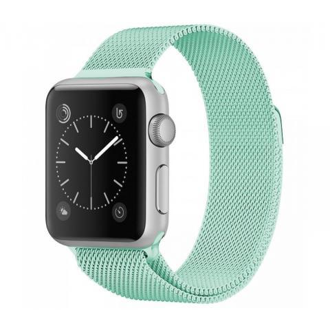 Ремешок Milanese Loop Marine Green для Apple Watch 42/44 mm