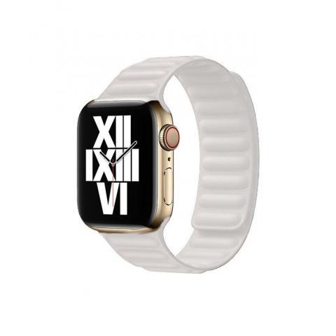 Кожаный ремешок Leather Link для Apple Watch 38/40 mm - White