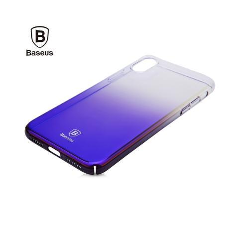Baseus Glaze Case Transparent Black for iPhone X