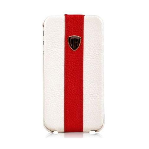 Чехол Nuoku rock luxury для iPhone 4/4s - white