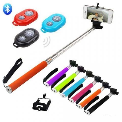 Палка для селфи Z07-1 с Bluetooth пультом - цвет уточняйте