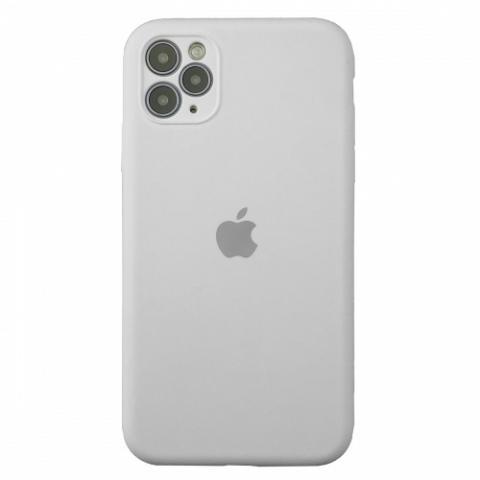 Чехол Silicone Case Full Camera для iPnone 11 Pro Max - White