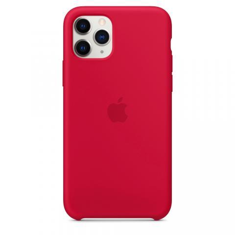 Apple Silicone Case для iPhone 11 Pro Max - Rose Red (Hi-Copy)