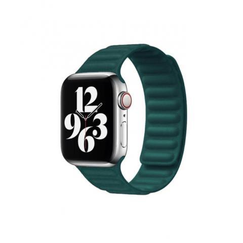 Кожаный ремешок Leather Link для Apple Watch 38/40 mm - Green