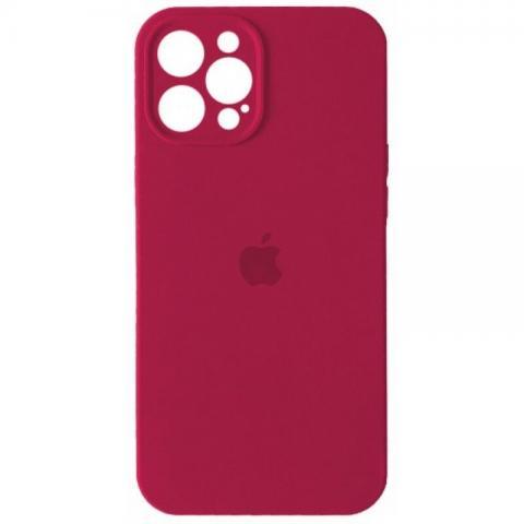 Силиконовый чехол с защитой для камеры для iPhone 12 Pro Max - Rose Red