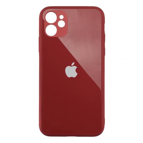 Стеклянный чехол с защитой для камеры для iPhone 11 Red