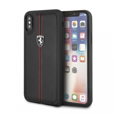 Чехол Ferrari Heritage Collection для iPhone X Black