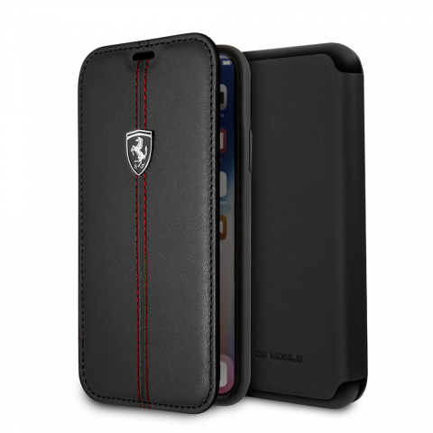 Чехол CG Mobile Heritage Collection iPhone X Ferrari Genuine Leather Heritage