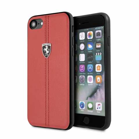Чехол CG Mobile Heritage Collection iPhone 8/7 Ferrari Genuine Leather Heritage Red