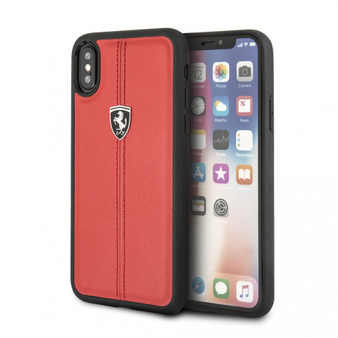 Чехол CG Mobile Heritage Collection iPhone X Ferrari Genuine Leather Heritage Red