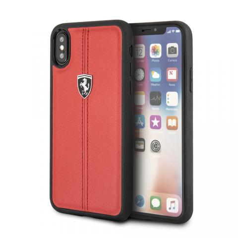 Чехол CG Mobile Heritage Collection iPhone X Ferrari Genuine Leather Heritage Red