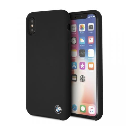 Чехол CG Mobile Logo Imprint BMW iPhone X Black Silicone Hard Case Black