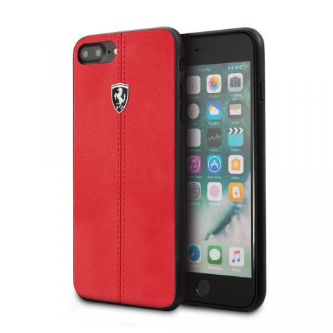 Чехол CG Mobile Heritage Collection iPhone 8 Plus/7 Plus Ferrari Genuine Leather Heritage Red
