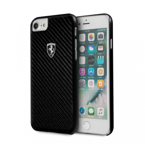 Чехол CG Mobile Heritage Collection iPhone 8/7 Ferrari Genuine Carbon Fiber Heritage