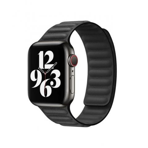 Кожаный ремешок Leather Link для Apple Watch 38/40 mm - Black