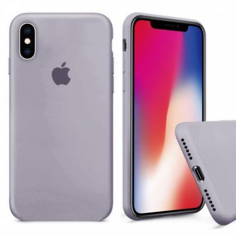 Чехол Full Silicone case для iPhone X/XS - Lavander