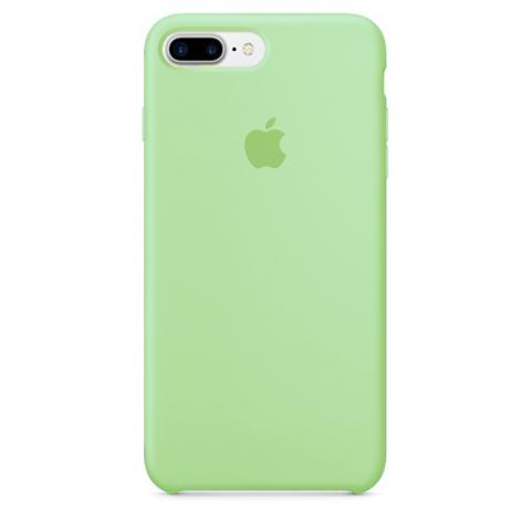 Apple Silicone Case for iPhone 7 Plus - Green (Hi-Copy)