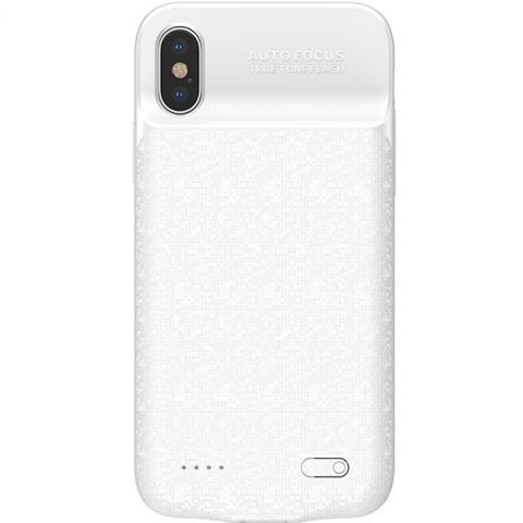Чехол-аккумулятор Baseus Plaid Backpack Power Bank Case 3500MAH For iPhone X White (ACAPIPHX-BJ02)