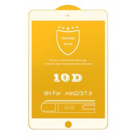 Защитное стекло 10D для iPad Mini/ Mini 2/ Mini 3 White