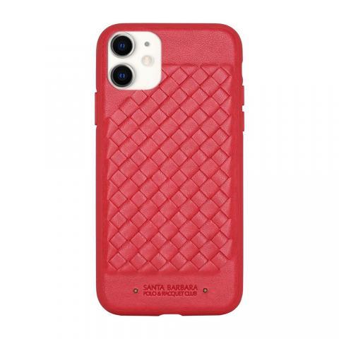 Кожаный чехол Polo Ravel красный для iPhone 11