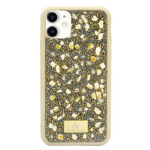 Чехол Bling World Pearl Diamonds (TPU) iPhone 11 Gold